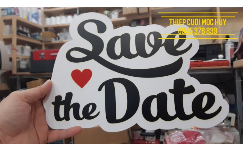 Hashtag Save The Date (Text)